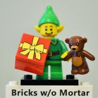 New Genuine LEGO Holiday Elf Minifig with Teddy Bear and Present Series 11 71002