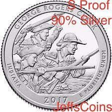 2017 S George Rogers Clark 90% Silver Proof Park Quarter Indiana ATB U.S.Mint