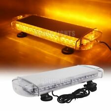 """21"""" 40 W LED EMERGENCY BEACON LIGHT BAR WARNING TRUCK TOW ROOF TOP STROBE YELLOW"""