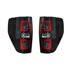 Recon 264368BK OLED Tail Lights Smoked Lens For Ford F150 & Raptor 09-14 (Pair)