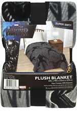 Marvel  Black Panther SUPER SOFT PLUSH Blanket Throw Fleece NEW! Size 60  x 90