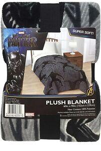 Marvel  Black Panther SUPER SOFT PLUSH Blanket Throw Fleece NEW! Size 60  x 90