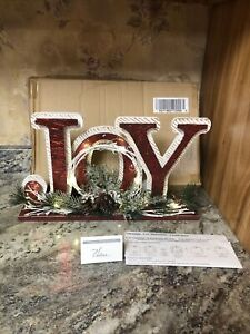 Open Box Illuminated Joy Decorative Accent with Timer by Valerie Parr Hill Red