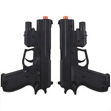 2 PACK M1911 SPRING AIRSOFT HAND GUN PISTOL w/ LASER & FLASHLIGHT 6mm BB BBs
