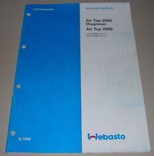 Werkstatthandbuch Webasto Air Top Diagnose / AT 2000 B Benzin + D Diesel 8/1996!