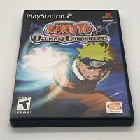Naruto Uzumaki Chronicles PS2 Playstation 2 Game Tested