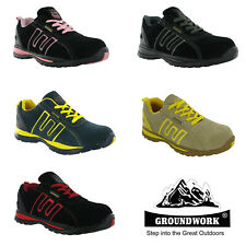 Groundwork Lightweight Steel Toe Cap Safety Womens Work Trainers Shoes UK3-8