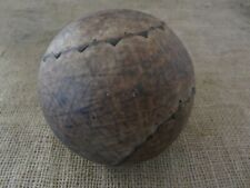 Vintage Clincher Leather Softball > Baseball Antique Ball Unusual Stitch 6819