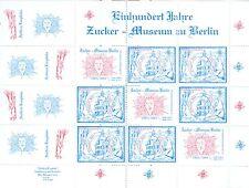 Privatpost * PIN Berlin * Kleinbogen 2 * 100 Jahre Zuckermuseum  2004 * SEHR RAR
