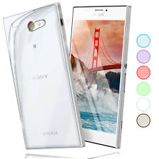 Silicone Case For sony Xperia M2 Protective Transparent Thin TPU New Back Cover