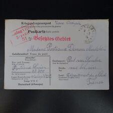 LETTRE PRISONNIER GUERRE STALAG VIII C -> PONT / SAMBRE KRIEGSGEFANGENENPOST POW