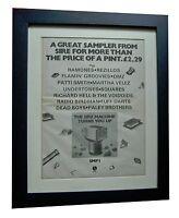 SIRE RECORDS+Machine+POSTER+AD+RARE ORIGINAL 1978+FRAMED+EXPRESS GLOBAL SHIP
