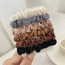 6PCS Elastic Hair Bands Silk Satin Scrunchie Hair Ties Ponytail Holder Ropes Lot