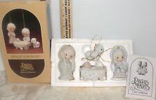 VTG 1980 Enesco Precious Moments Nativity Set Come Let Us Adore Him in Box