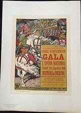 """GRASSET  EUGÈNE """"LES FÊTES DE PARIS""""  POUR LE GALA DU 26 JANVIER 1896"""