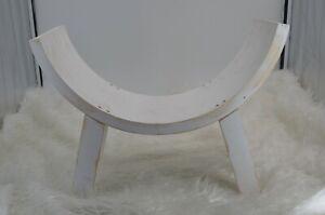 Curved White Sitter Bench Half Moon Bench Wooden Chair Newborn Photo Prop Sitter