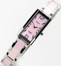 Regent Damenuhr Armbanduhr Damen Edelstahl Ceramic rosa  NEU
