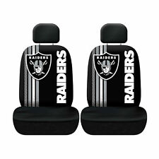 Football Oakland Raiders Low Back Front Seat Covers Universal Fit Pair