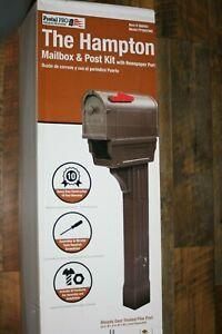 Postal Pro Hampton 4 x 4 Mocha Polymer Mailbox and Post