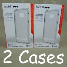 Lot of 2 Tech 21 Samsung Galaxy Note 5 Cases Evo Check in White (Clear)