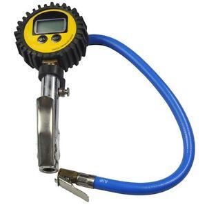 Digital Auto Car Motorcycle Tire Inflator Air Pressure Gauge 0-255psi