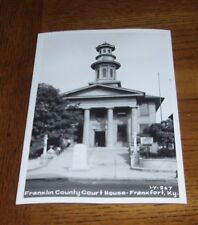 FRANKFORT KENTUCKY - 1940s RPPC - FRANKLIN COUNTY COURTHOUSE - WITH CLOCK TOWER