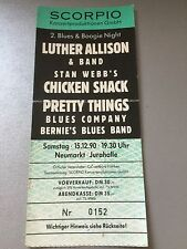 LUTHER ALLISON-STAN WEBB 1990 NÜ.    ++  ORIGINAL CONCERT - KONZERT - Ticket