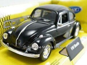 VOLKSWAGEN BEETLE CAR BLACK MODEL VW 1/36TH SCALE BLACK INTERIOR EXAMPLE H45 -+-