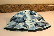 Boys Gymboree Blue Shark Sun Hat Reversible M//L NEW