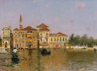 """perfect  36x24 oil painting handpainted on canvas""""Venice"""" N6212"""