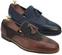 Mens Tassel Brogues Shoes Office Wedding Formal Smart Dress Moccasins Shoes
