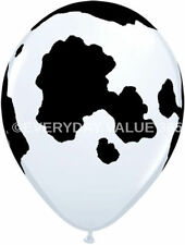 "10 Cow Print Latex Balloon Black White Cow 12"" Party Decorating Made in Italy"