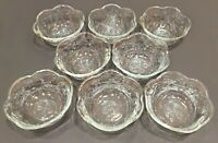 Set of 8 Anchor Hocking Savannah Clear Glass Soup Cereal Bowls - 6 1/4""