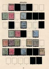 GIBRALTAR: Queen Victoria Examples - Ex-Old Time Collection - Album Page (33401)
