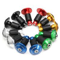 1 Pair Bike Bicycle Aluminum Handlebar Grips Cap Plug Handle Bar Caps End   //
