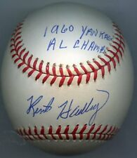 KENT HADLEY Single-Signed Baseball 1960 Yankees 1959 A' s PSA/DNA Authenticated