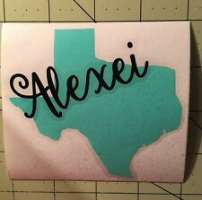 Texas Decal With Script Name For Your Yeti Tumbler Rambler