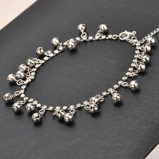 """SILVER 11.8"""" tone jingle bell  Anklet Ankle bracelet Chain gypsy tribal New"""