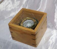 Antica bussola oscillante in box legno con vetro navigazione barca a vela nave