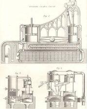 ENGINEERING. Steam- Engine. Ericcson's Caloric engine 1880 old antique print