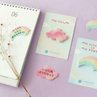 Colorful Rainbow Cloud Cute Sticky Notes Pad Novelty Memo Index Page Markers
