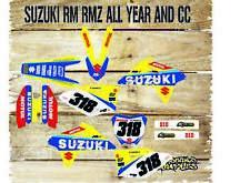 Suzuki RM H. 65 85 125 250 450 kit de gráficos de Motocross y plásticos