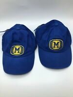 Milwaukee Brewers Baseball Cap Lot of 2 Adjustable Unusual Logo  N7