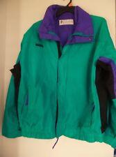 Herren Columbia grün lila bogaboo Nylon Jacke Größe XL