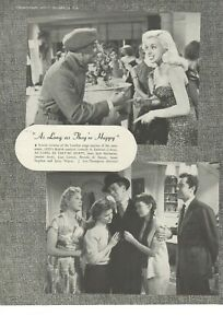 Film Trade Page As Long As They're Happy 1954 GFD Diana Dors Janette Scott