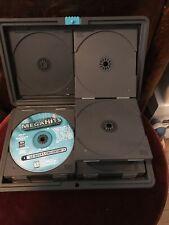 Laserline CD DVD Portable Hard Case 24 Disc Storage Holder Rugged Compact 1 Disc
