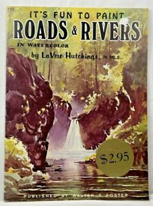 1978 Vtg Walter Foster Its Fun To Paint Roads & Rivers In Watercolor How-To 9195