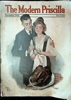 Modern Priscilla November 1916 Thanksgiving Turkey Cover Cream of Wheat Ad