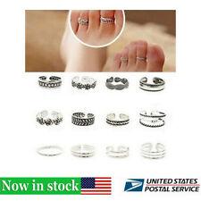 24 Pcs Charm Jewelry Silver Daisy Toe Ring Women Punk Open Finger Foot Jewelry