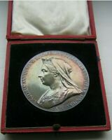 1897🔹️Toned Silver Medal Coin Veiled Young Queen Victoria Diamond Jubilee
